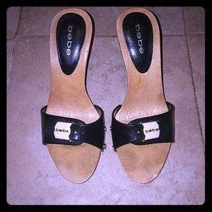 Wooden Bebe heels